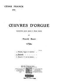 Pastorale, Op.19 ('6 Pièces pour grand o... Volume FWV 31, Op.19 by Franck, César