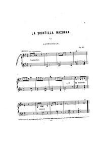 L'Etincelle (La scintilla; The Spark) : ... Volume Op.20 by Gottschalk, Louis Moreau