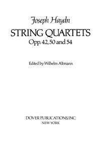 String Quartet in D minor, Op.42 : Compl... Volume Op.42 / Hob.III:43 by Haydn, Joseph