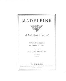 Madeleine : Complete Score by Herbert, Victor
