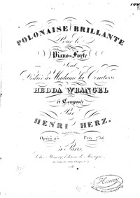 Polonaise brillante, Op.25 : Complete sc... Volume Op.25 by Herz, Henri