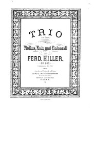 String Trio, Op.207 : Complete Score and... Volume Op.207 by Hiller, Ferdinand