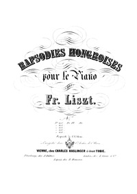 Hungarian Rhapsody No.6 (Tempo giusto) :... Volume S.244/6 ; LW.A132/6 by Liszt, Franz