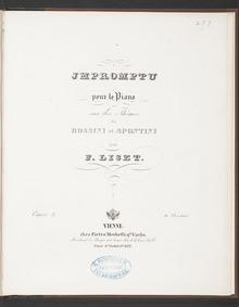 Impromptu brillant sur des thèmes de Ros... Volume 13 by Liszt, Franz