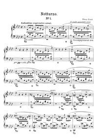 Liebesträume (Drei Notturnos) : Complete... Volume S.541 ; LW.A103 by Liszt, Franz