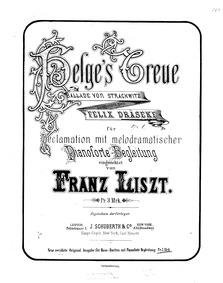 Helges Treue (Ballade von Strachwitz, f.... Volume Op.1 by Draeseke, Felix