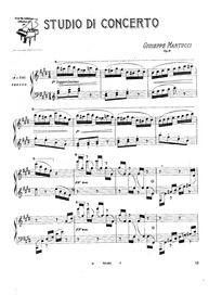 Studio da Concerto, Op.9 : Complete Scor... Volume Op.9 by Martucci, Giuseppe