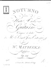 Notturno for Flute, Viola and Guitar, Op... Volume Op.21 by Matiegka, Wenzel Thomas