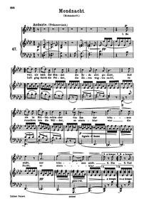 Mondnacht (Es war, als hätt der Himmel) ... Volume WoO 21 by Brahms, Johannes