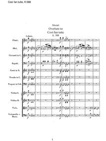 Cosi fan tutte, ossia La scuola degli am... Volume K.588 by Mozart, Wolfgang Amadeus