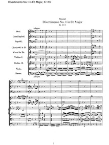 Divertimento (Divertimento No.1) : Compl... Volume K.113 by Mozart, Wolfgang Amadeus