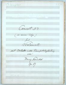 Cello Concerto No.1, Op.57 : Complete Sc... Volume Op.57 by Neruda, Franz
