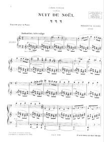 Nuit de Noël (Christmas Night / Esquisse... Volume BV 251 by Busoni, Ferruccio