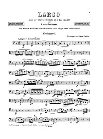 Piano Sonata No.7, Op.10 No.3 : Cello Pa... Volume Op.10 No.3 by Beethoven, Ludwig van