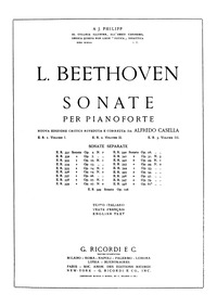 Piano Sonata No.7, Op.10 No.3 : Complete... Volume Op.10 No.3 by Beethoven, Ludwig van