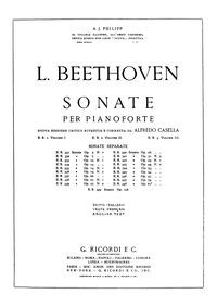 Piano Sonata No.7, Op.10 No.3 : Complete... Volume Op.10 No.3 by Beethoven, Ludwig van