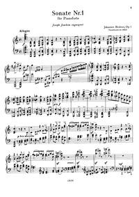 Piano Sonata No.1, Op.1 : Complete Score... Volume Op.1 by Brahms, Johannes