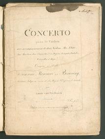 Violin Concerto in D major, Op.61 : Comp... Volume Op.61 by Beethoven, Ludwig van