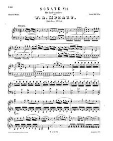 Piano Sonata No.6 (Dürnitz Sonata) : Com... Volume K.284 ; K⁶.205b by Mozart, Wolfgang Amadeus