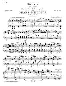 Piano Sonata, D.537 : Complete score Volume D.537 ; Op.164 by Schubert, Franz