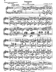 Impromptu No.3, Op.51 : Complete Score Volume Op.51 by Chopin, Frédéric