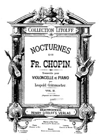 Nocturnes, Op.48 : Cello and Piano Score... Volume Op.48 by Chopin, Frédéric