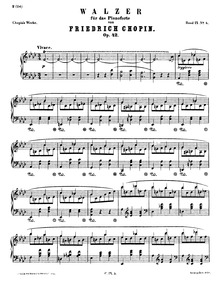 Waltz in A-flat major, Op.42 : Complete ... Volume Op.42 by Chopin, Frédéric