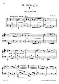 Moods, Op.73 : Complete Score (scan) Volume Op.73 by Grieg, Edvard