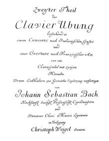 Ouverture nach Französischer Art (Overtu... Volume BWV 831 ; Op.2 by Bach, Johann Sebastian