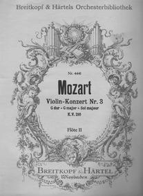 Violin Concerto No.3 in G major, K.216 :... Volume K.216 by Mozart, Wolfgang Amadeus