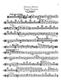Tragic Overture (Tragische Ouvertüre) : ... Volume Op.81 by Brahms, Johannes