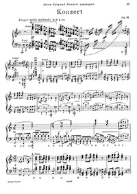 Piano Concerto, Op.16 : Complete Solo pa... Volume Op.16 by Grieg, Edvard