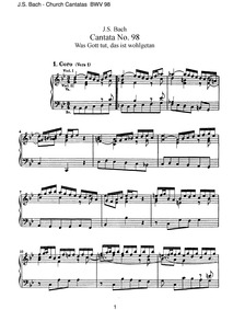 Whatever God deals is dealt bountifully ... Volume BWV 98 by Bach, Johann Sebastian