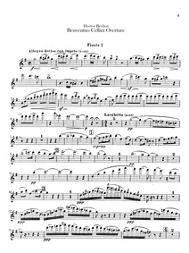 Benvenuto Cellini, H 76 : Flute 1, 2 (do... Volume H 76 by Berlioz, Hector