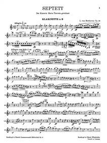 Septet in E-flat major, Op.20 : Clarinet... Volume Op.20 by Beethoven, Ludwig van