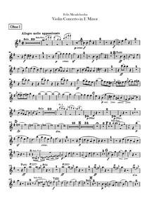 Violin Concerto, Op.64 : Oboe 1, 2 Volume Op.64 by Mendelssohn, Felix
