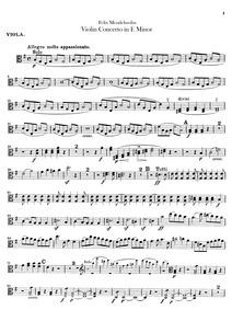 Violin Concerto, Op.64 : Violas Volume Op.64 by Mendelssohn, Felix