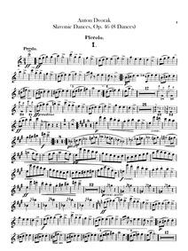 Slavonic Dances (Slovanské tance) : Picc... Volume Piano version, Opus 46, B.78 Orchestral version, Opus 46, B.83 by Dvořák, Antonín