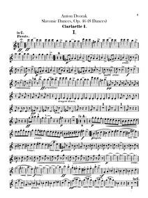 Slavonic Dances (Slovanské tance) : Clar... Volume Piano version, Opus 46, B.78 Orchestral version, Opus 46, B.83 by Dvořák, Antonín
