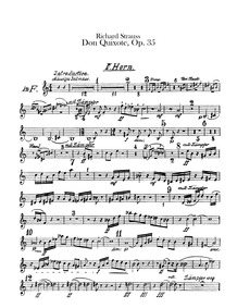Don Quixote, Op.35 : Horn 5, 6 (in F) Volume Op.35 ; TrV 184 by Strauss, Richard