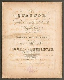 String Quartet No.16, Op.135 : Complete ... Volume Op.135 by Beethoven, Ludwig van