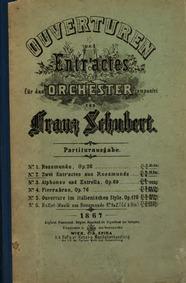 Rosamunde, D.797 : Two Entr'actes, compl... Volume D.797 by Schubert, Franz