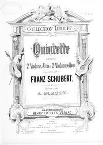 String Quintet, D.956 : Viola Volume D.956, Op. 163 by Schubert, Franz