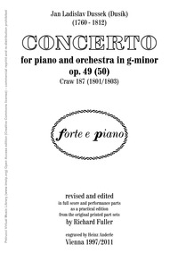 Piano Concerto Op.49 (Craw 187) (Piano C... Volume Op.49 / 50, Craw 187 by Dussek, Jan Ladislav