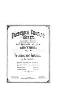 Variations sur un air national allemande... Volume B.14 by Chopin, Frédéric