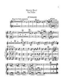 La valse (Poème chorégraphique) : Violin... Volume M.72 by Ravel, Maurice