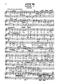 Armide (Drame héroïque en cinq actes) : ... Volume Wq.45 by Gluck, Christoph Willibald