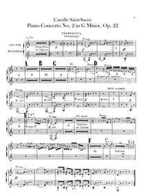 Piano Concerto No.2, Op.22 : Trumpet 1/2... Volume Op.22 by Saint-Saëns, Camille