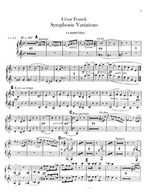 Variations Symphoniques for piano and or... Volume FWV 46 by Franck, César
