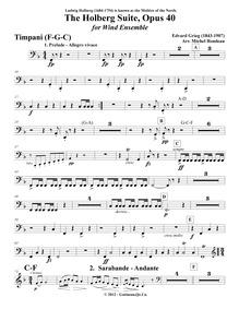 Fra Holbergs tid, Suite i gammel stil (A... Volume Op.40 by Grieg, Edvard